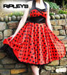 HELL BUNNY 50s VERA Red DRESS Polka Dot Emo  Thumbnail 1